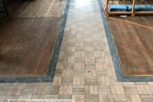 Granwood Church Floor During Cleaning