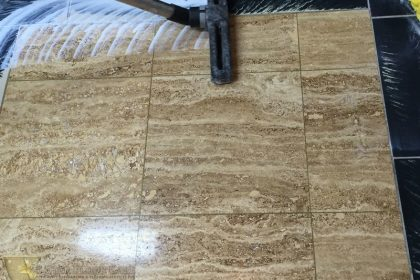 Deep Cleaning and Polishing a Marble Floor