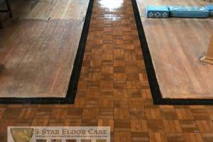 Granwood Church Floor After 3 Coats Of Sealant
