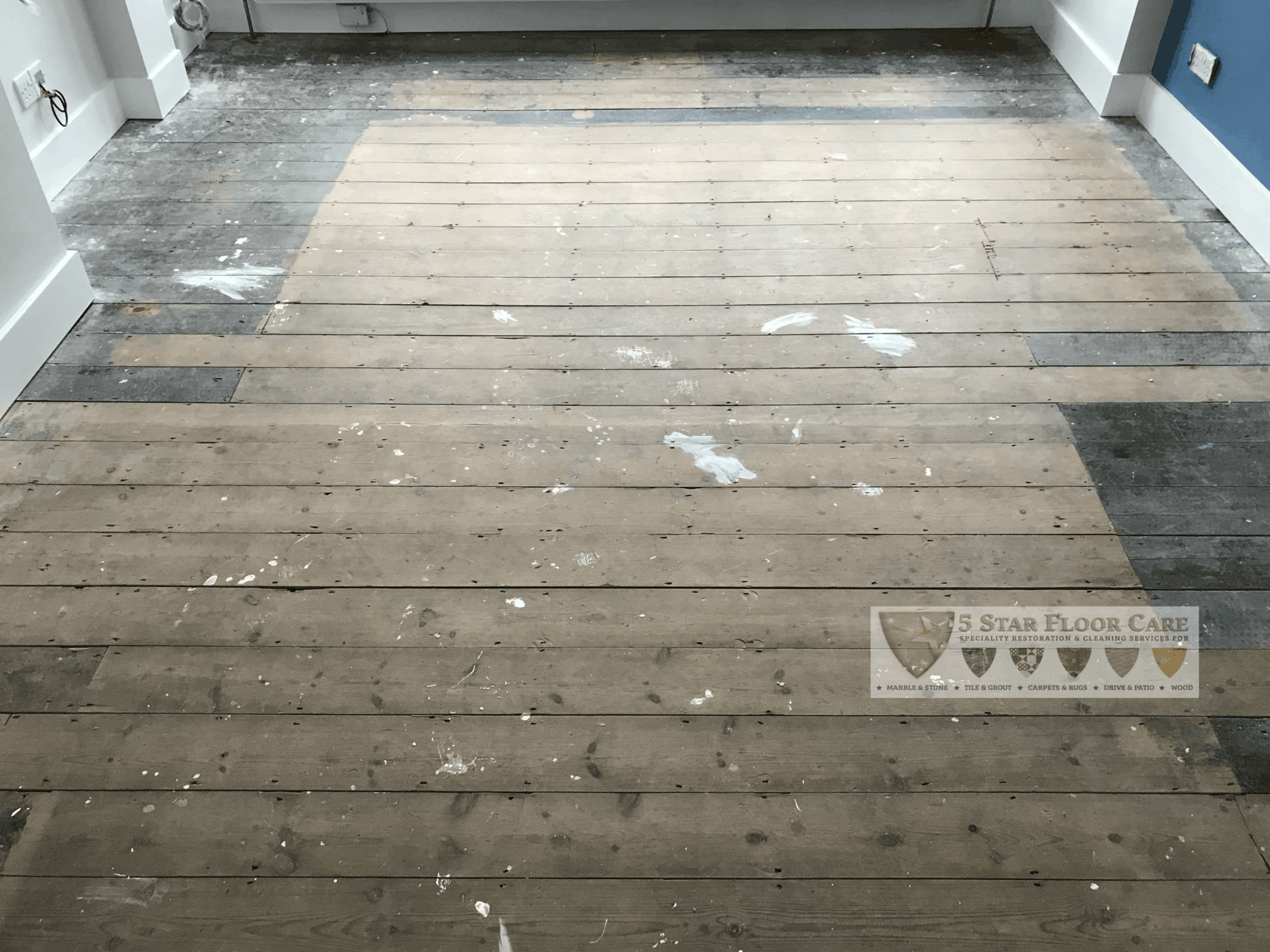 before floor sanding